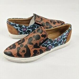 Coach Nappa Canvas Leopard Shoes 6